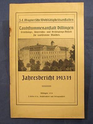 Jahresbericht 1913/14.: Taubstummenanstalt Dilligen. Erziehungs-, Unterrichts- und ...