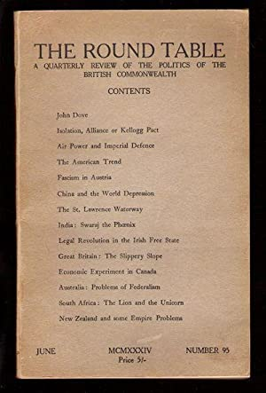 The Round Table/A Quarterly Review of the Politics of the British Commonwealth/June 1934&...