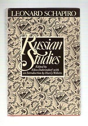 Russian Studies: Leonard Schapiro