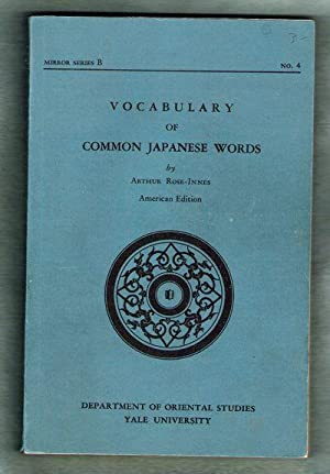 Vocabulary of Common Japanese Words/Mirror Series B No. 4: Rose-Innes