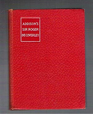 essays by addison steele abebooks sir roger de coverley essays from the spectator addison joseph steele