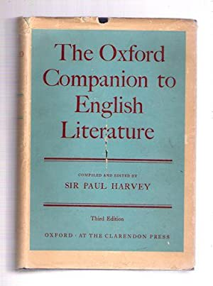 The Oxford Companion to English Literature/Third Edition: Harvey, Sir Paul