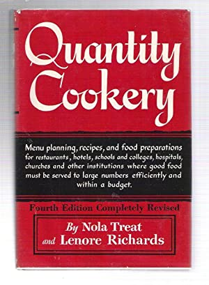 Quantity Cookery: Menu Planning, Recipes, and Food Preparations for Restaurants, Hotels, Schools ...