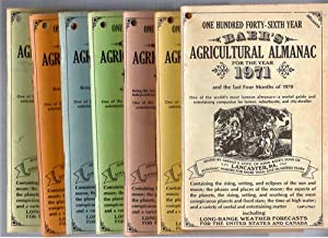 Baer's Agricultural Almanac; 7 Issues, 1971, 1972, 1973, 1974, 1976, 1977, 1978: Lestz, Gerald...