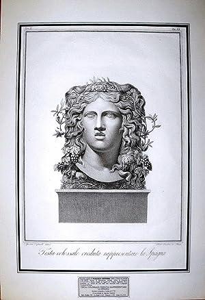 TESTA COLOSSALE CREDUTA RAPPRESENTARE LA SPAGNA: FRANCESCO CECCHINI (attivo a Roma nel periodo 1783...