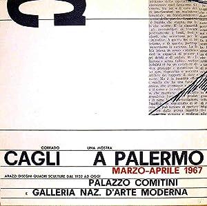 CORRADO CAGLI - Una Mostra a Palermo Arazzi disegni quadri sculture dal 1932 ad oggi (marzo-aprile ...