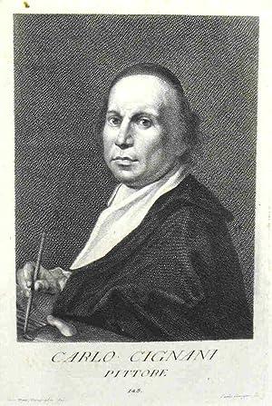 CARLO CIGNANI - Pittore: CARLO GREGORI (Firenze 1719 -1759)