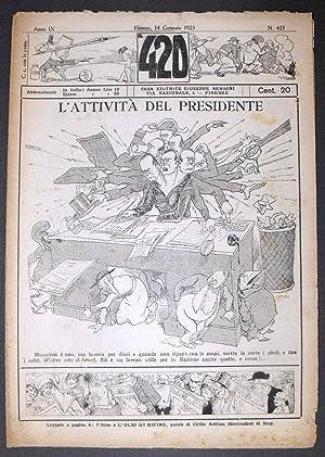 IL 420 - Settimanale satirico umoristico - Anno IX (gennaio 1923) - Numeri 422 e 423