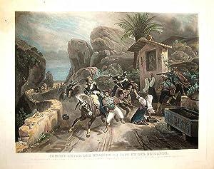COMBATTIMENTO TRA DRAGONI DEL PAPA E BRIGANTI: JEAN PIERRE MARIE JAZET (1788-1871)