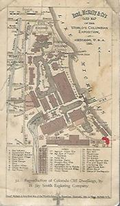 Card Map of the World's Columbian Exposition: Rand, McNally &