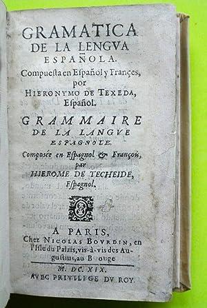 Gramatica de la lengva española. Compuesta en: Texeda, Jerónimo de
