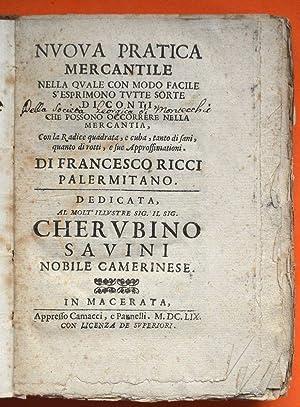 Nvova pratica mercantile nella qvale con modo: Ricci, Francesco (¿-?,