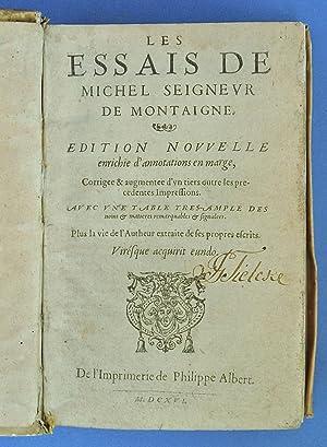 Les Essais de Michel seignevr de Montaigne.: Montaigne, Michel de
