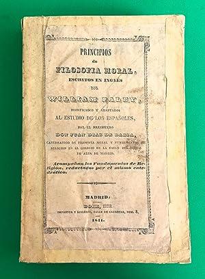 Principios de Filosofía Moral, escritos en inglés: Paley, William (1743-1805)