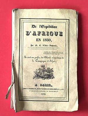 De l'expédition d'Afrique en 1830, Par E.: Ault-Dumesnil, Édouard d'