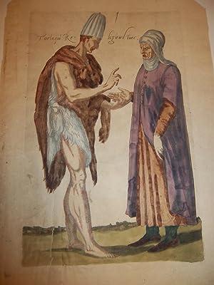GRAVURE - TORLAQUI RELIGIEUX TURC [Les quatre premiers livres des navigations et péré...