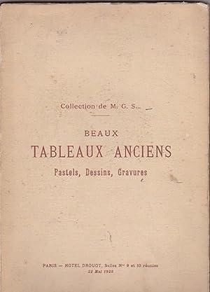 Catalogue des tableaux anciens. Oeuvres importantes de largillierre. Pastels, dessins, gravures, ...