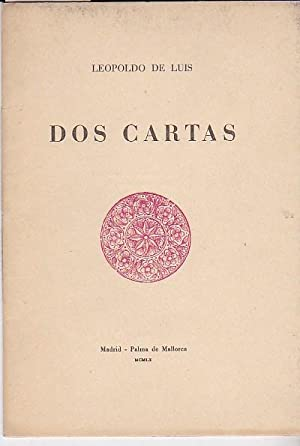 Dos cartas: LUIS, Leopoldo de