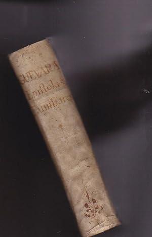 Epistolas familiares. Traducciones, y razonamientos del Ilustrísimo Señor Don Antonio...