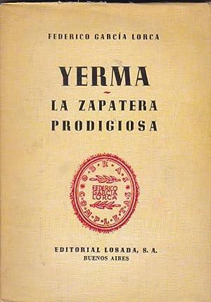 Yerma. La zapatera prodigiosa: GARCIA LORCA, Federico