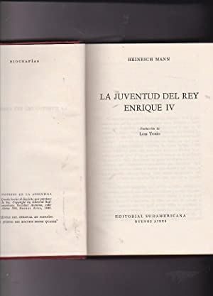 La juventud del rey Enrique IV: MANN, Heinrich