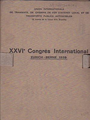 Union Internationale de tramways, de chemins de fer d intérét local et de transports ...