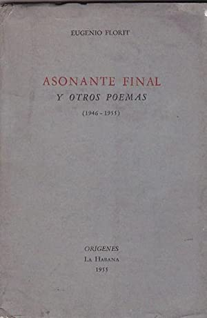 Asonante final y otros poemas (1946-1955): FLORIT, Eugenio