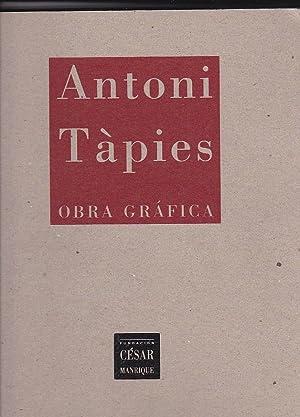 Antoni Tàpies. Obra gráfica: GUIDIERI, Remo / ULLAN, José Miguel