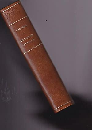 Manual de derecho romano: PACCHIONI, Juan