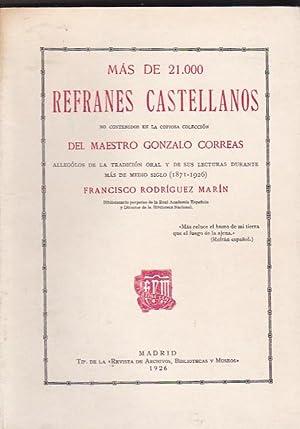 Mas de 21.000 refranes castellanos no contenidos en la copiosa colección del maestro Gonzalo...