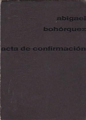 Acta de confirmación: BOHÓRQUEZ, Abigael