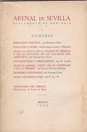 Suplemento de Mediodía. I y II: REVISTA ARENAL DE SEVILLA