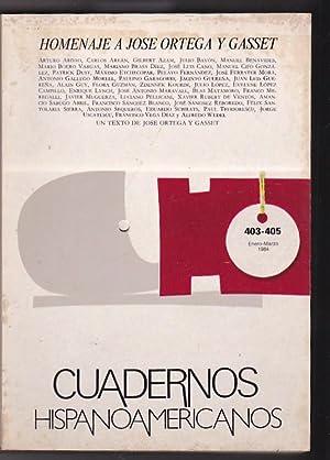 Número 403-405 Homenaje a José Ortega y: REVISTA CUADERNOS HISPANOAMERICANOS