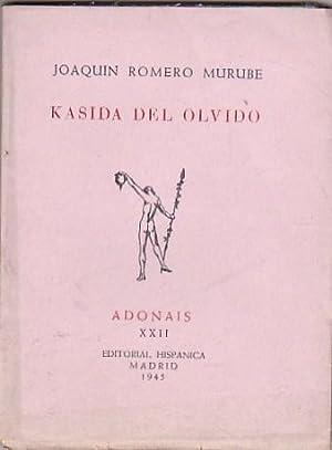 Kasida del olvido: ROMERO MURUBE, Joaquín