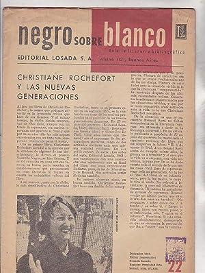 Boletín literario bibliográfico Número 22 . Christiane: REVISTA NEGRO SOBRE