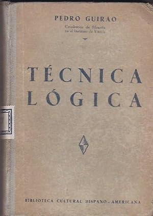 Técnica lógica: GUIRAO, Pedro