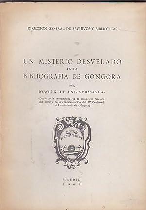 Un misterio desvelado en la bibliografía de Góngora: ENTRAMBASAGUAS, Joaquín de