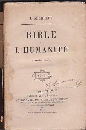 Bible de l humanité: MICHELET, J.