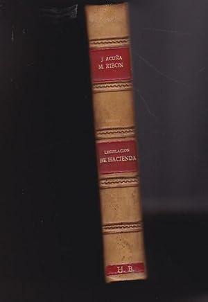 Legislación de Hacienda. Obra ajustada al programa de 30 de Diciembre de 1932 para las ...