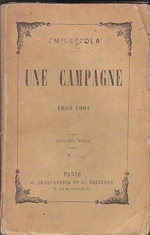 Une campagne 1880-1881: ZOLA, Émile