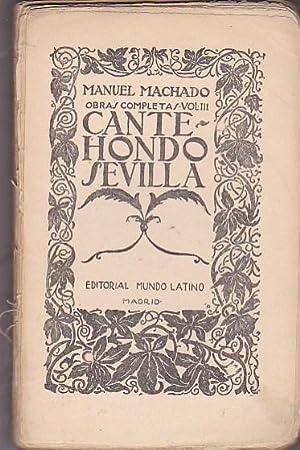 Cante hondo Sevilla: MACHADO, Manuel