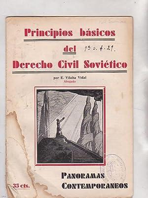 Principios básicos del derecho civil soviético: VILALTA VIDAL, E.