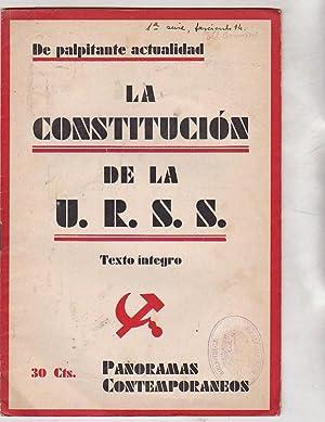 La Constitución en la U.R.S.S
