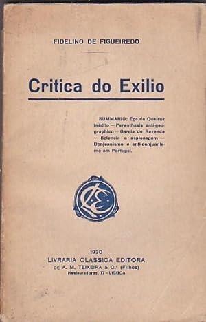 Critica do Exilio: FIGUEIREDO, Fidelino de