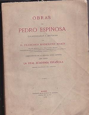 Obras de Pedro Espinosa coleccionadas y anotadas por D. Francisco Rodríguez Marín: ...