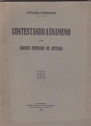 Contestando a Unamuno: ESPERABE DE ARTEAGA, Enrique