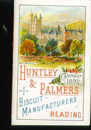 Huntley & Palmers Calendar for 1892