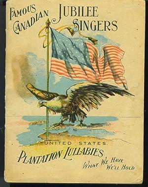 Famous Canadian Jubilee Singers Plantation Lullabies