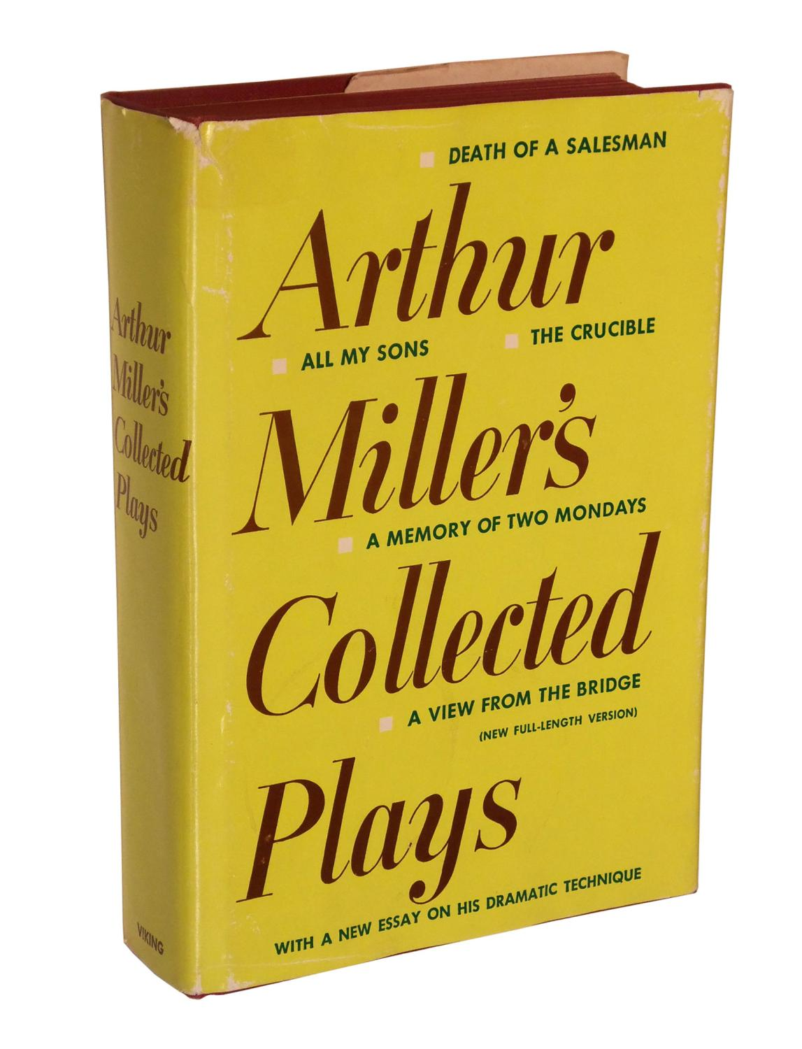 arthur miller s collected plays abebooks