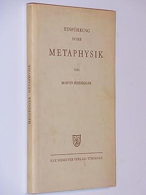 Einfuhrung in Die Metaphysik: Heidegger, Martin